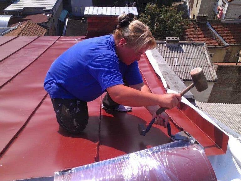 Izrada novog limenog krova od plastificiranog lima