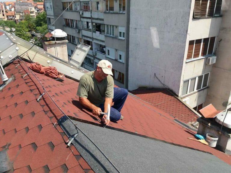 Ugradnja tegole, popravka krova od tegole, sanacija krova, sanacija prokisnjavanja