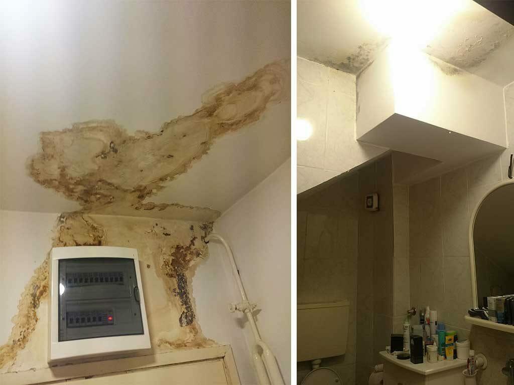 Sanacija prokisnjavanja, popravka krova, sanacija krova, hidroizolacija krovova